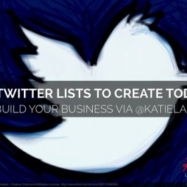 [SLIDESHARE] 10 Twitter Lists To Create Today to Build Your Business