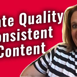 The #GetSocialSmart Show Episode 021: How to Create Quality Consistent Content