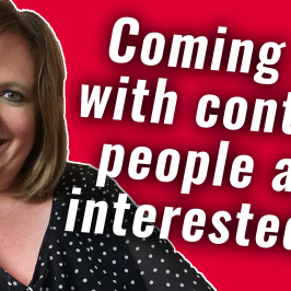 How to Come Up with Interesting Content | #GetSocialSmart Show Episode 027