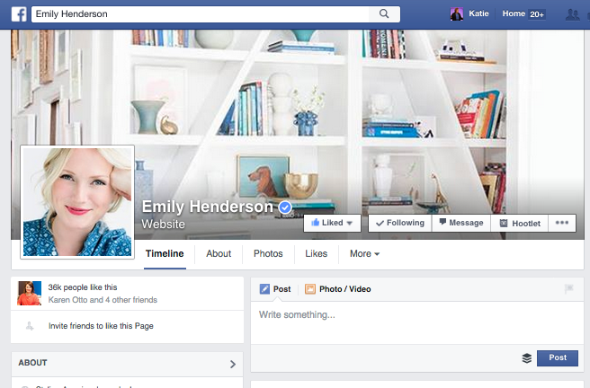 Use visuals to personalize your Page.