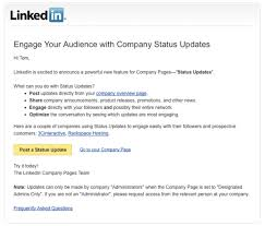 Here's how to publish Company Status Updates.