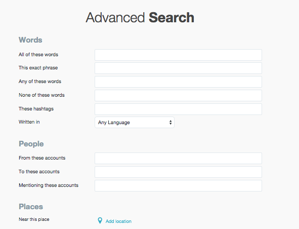 Find your target audience based on keywords, hashtags or location.