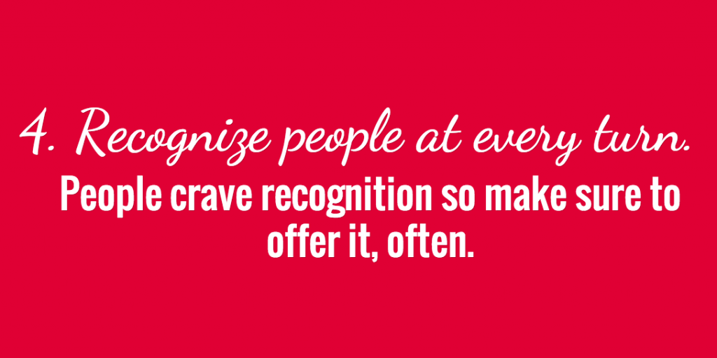 Recognize people at every turn.