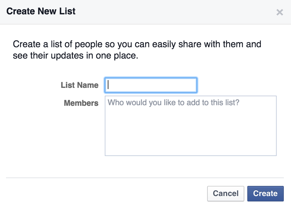 Facebook Lists help you organize your connections.