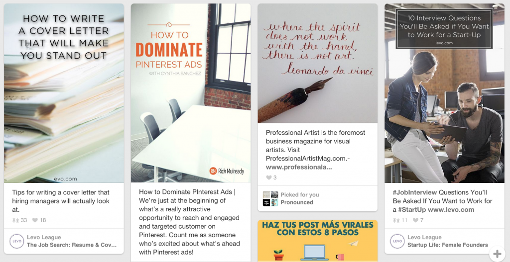 Text overlay can grab attention on Instagram and Pinterest.