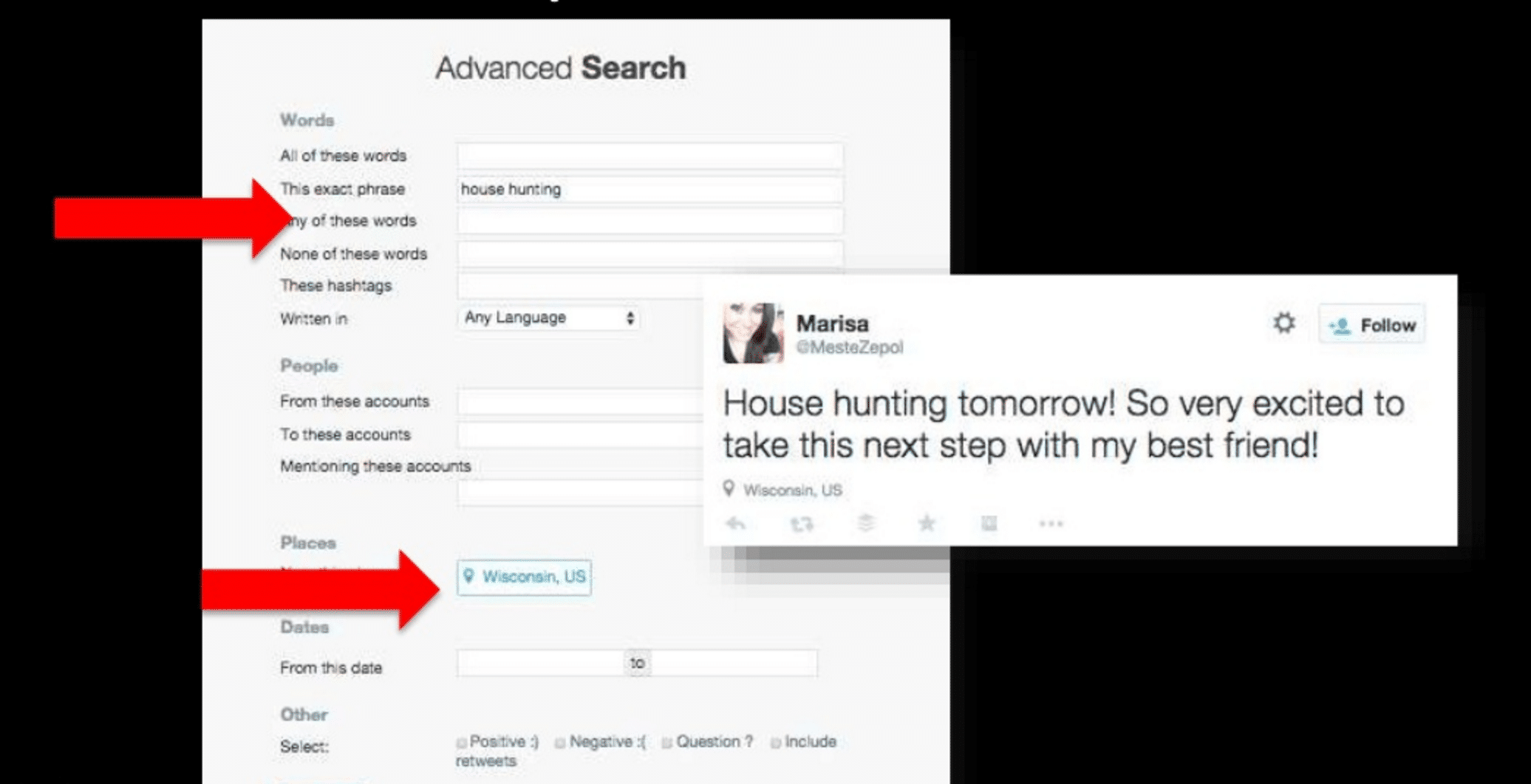 The search function of Twitter is an excellent prospecting tool as well.
