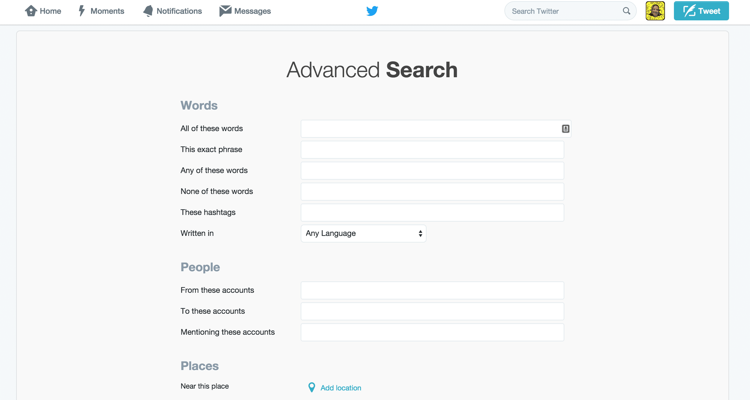 The Advanced Search function is an awesome, yet underutilized tool.