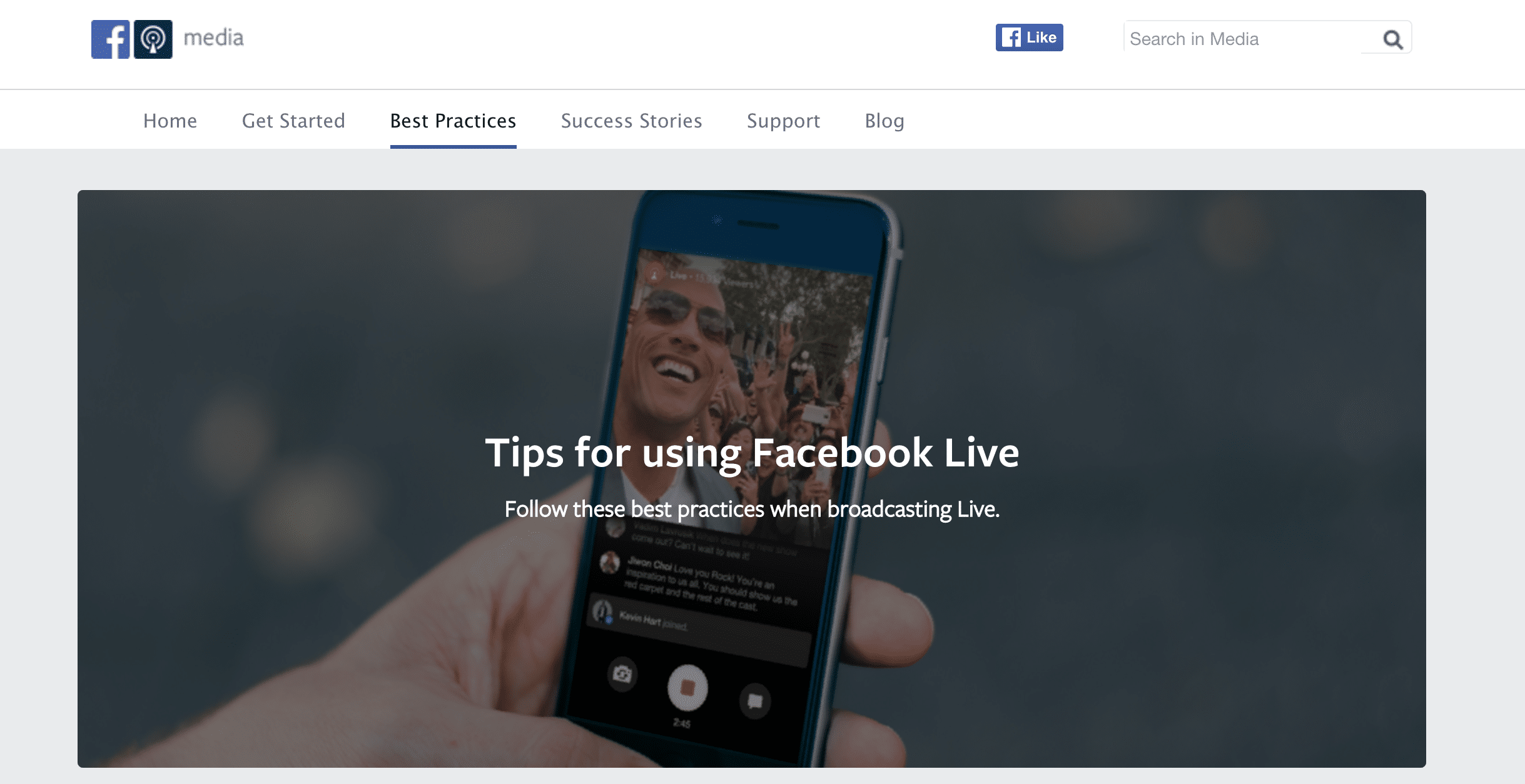 Facebook offers some great tips for getting started with Facebook Live.
