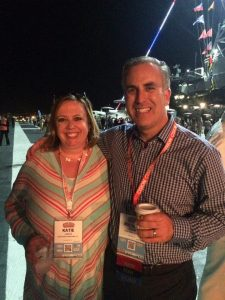 It was great getting to meet the founder of Social Media Examiner onboard the USS Midway at the opening party of #SMMW16.