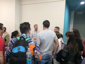 Jon Loomer, Facebook Ad expert addressing a big crowd in the hall after his presentation at #SMMW16.