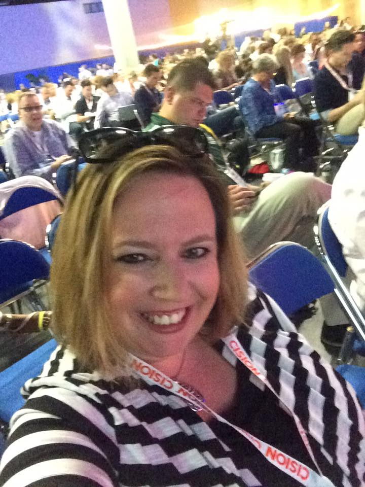 Selfie at #SMMW16 (grinning ear-to-ear!)
