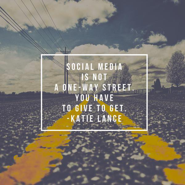 Social media is not a one-way street!