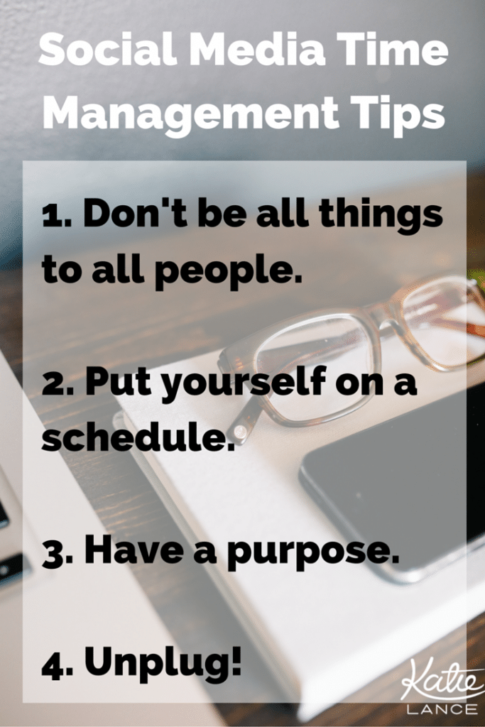4 tips for social media time management!