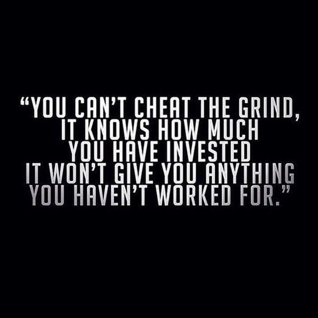 There are no shortcuts!