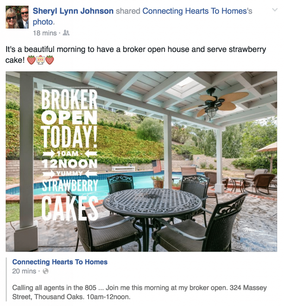 Here's a great example of how to talk about a listing or an open house!