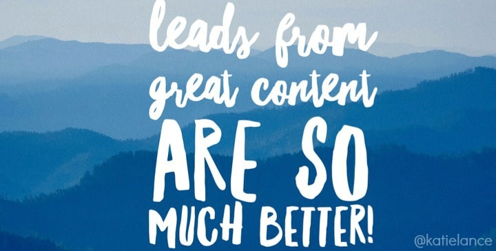 Great content = great leads!